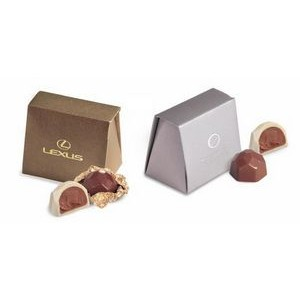Envelope Gift Box w/ 2 Belgian Chocolate Hazelnut Truffles